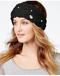 Betsey Johnson | Black Pearly Girl Headband | Lyst