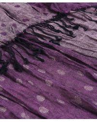 Jules B | Purple Crinkle Spot Contrast Scarf | Lyst