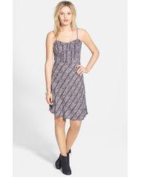 Volcom - 'black Rose' Print Dress - Lyst