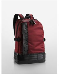 Calvin Klein - Red Jeans Pilot Backpack for Men - Lyst