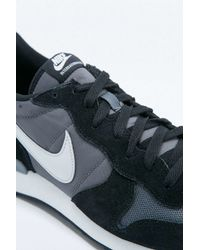 Nike | Gray Internationalist Grey And Black Trainers for Men | Lyst