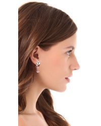 Jenny Packham | Metallic Marquis Earrings Iii - Rhodium | Lyst