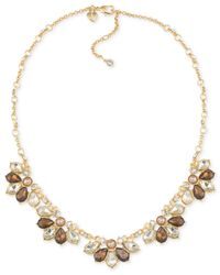Carolee | Metallic Top Of The Rock Gold-tone Brown Crystal Collar Necklace | Lyst