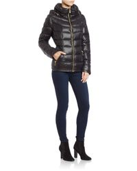 Calvin Klein | Black Hooded Packable Puffer Coat | Lyst
