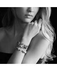 David Yurman | Metallic Waverly Cable Bracelet With Diamonds, 15mm | Lyst