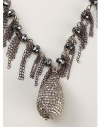 Samira 13 - Metallic Pave Diamond Necklace - Lyst