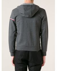 Moncler - Gray Knit Cardigan for Men - Lyst