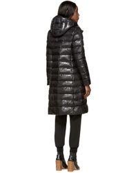 Moncler | Black Down Moka Coat | Lyst