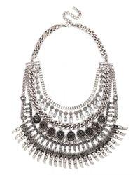 BaubleBar | Metallic Amazon Medallion Bib | Lyst