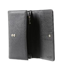 Armani Jeans - Black Wallet Ecosaffiano Shopping - Lyst