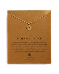 Dogeared | Metallic 'Going Places' Compass Pendant Necklace | Lyst