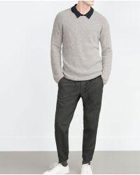 Zara | Gray Cropped Trousers for Men | Lyst