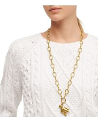 Tory Burch - Metallic Dove Pendant Necklace - Lyst