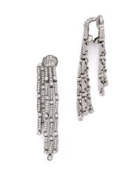 Oscar de la Renta | Metallic Chandelier Earrings - Crystal/silver | Lyst