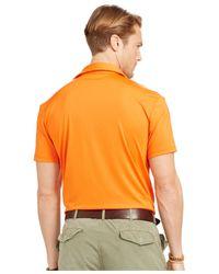 Polo Ralph Lauren | Orange Performance Lisle Polo Shirt for Men | Lyst