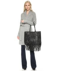 Elizabeth and James - Black Scott Fringe Tote - Camel - Lyst