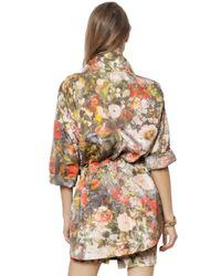Vivienne Westwood - Multicolor Floral Printed Matte Duchesse Coat - Lyst