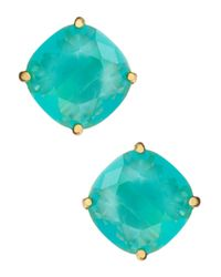 Kate Spade | Blue Small Square Stud Earrings | Lyst