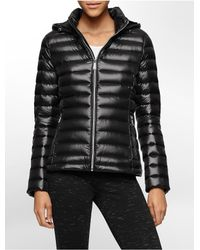 Calvin Klein | Black White Label Lightweight Packable Hooded Down Jacket | Lyst