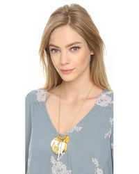 Kenneth Jay Lane - Metallic Coin & Tusk Necklace - Gold Multi - Lyst