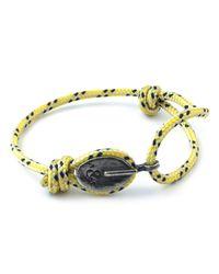 Anchor & Crew - Yellow Dash London Rope Bracelet for Men - Lyst