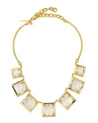 Lele Sadoughi - Metallic Celestial Galaxy Rock Crystal Necklace - Lyst