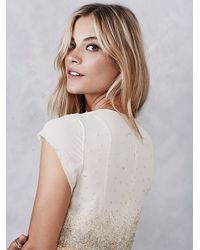 Free People | Natural Glitter Rock Babydoll Dress | Lyst