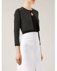 07fc161bc5 Lyst - Narciso Rodriguez Cropped Cardigan in Black