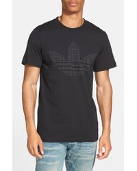 Adidas Originals | Black 'redefined Logo' Graphic T-shirt for Men | Lyst