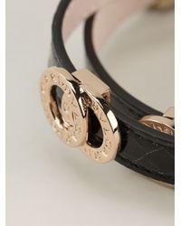 BVLGARI | Black Double Coiled Bracelet | Lyst