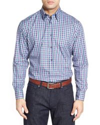 Robert Talbott | Blue 'anderson' Classic Fit Check Sport Shirt for Men | Lyst