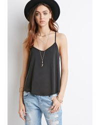 Forever 21 - Gray Strappy Back Cami - Lyst