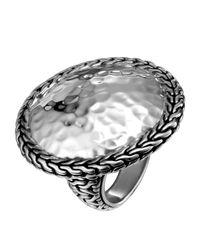 John Hardy | Metallic Palu Hammered Round Ring | Lyst