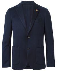 Lardini - Blue Two Button Blazer for Men - Lyst