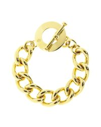 Brooks Brothers | Metallic Gold Chain Toggle Bracelet | Lyst