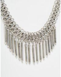 Pieces | Metallic Oxanna Necklace | Lyst
