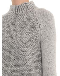Vince - Gray Seed-stitch Wool-blend Sweater - Lyst