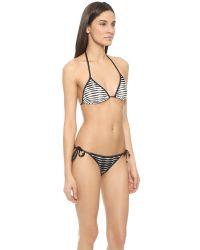 Shoshanna - Ombre Triangle Bikini Top - Black/white - Lyst