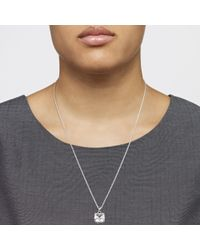 John Lewis | Metallic Square Cut Crystal Stud Earrings And Pendant Set | Lyst
