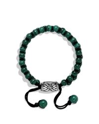 David Yurman - Green Spiritual Beads Tworow Bracelet with Malachite for Men - Lyst