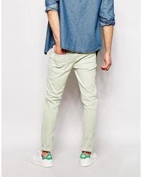 Farah - Green Skinny Fit Stretch Jean for Men - Lyst