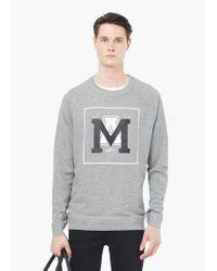 Mango   Gray Cotton Sweatshirt for Men   Lyst