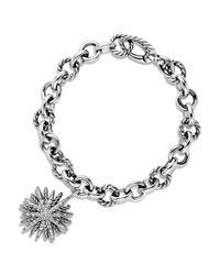 David Yurman - Metallic Starburst Charm Bracelet With Diamonds - Lyst