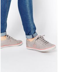 Fred Perry | Metallic Kingston 1964 Silver Sneakers | Lyst