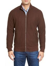 Tommy Bahama | Brown 'new Scrimshaw' Zip Sweater for Men | Lyst