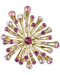 Jones New York - Purple Gold-Tone Pink Burst Dots Pin - Lyst