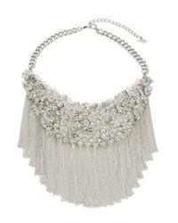 ABS By Allen Schwartz | Metallic Silvertone Chain Bib Necklace for Men | Lyst