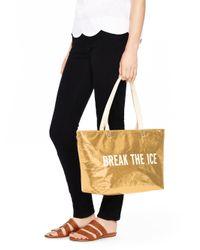 kate spade new york - Metallic Break The Ice Cooler Bag - Lyst