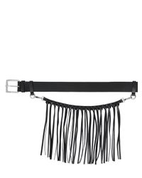 CoSTUME NATIONAL | Black 40mm Leather Belt & Fringed Pocket Chain for Men | Lyst