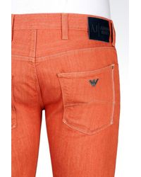 Armani Jeans - Red Extra Slim Rinse Wash Jeans for Men - Lyst